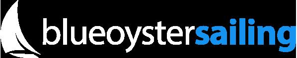 Blue Oyster Sailing White Logo