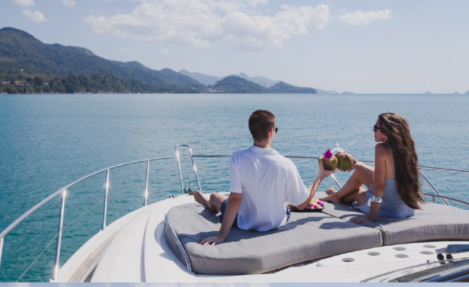 Couple on a Yacht Image